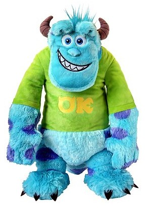 Monsters University Soft Plush Toy  Sulley with T-Shirt