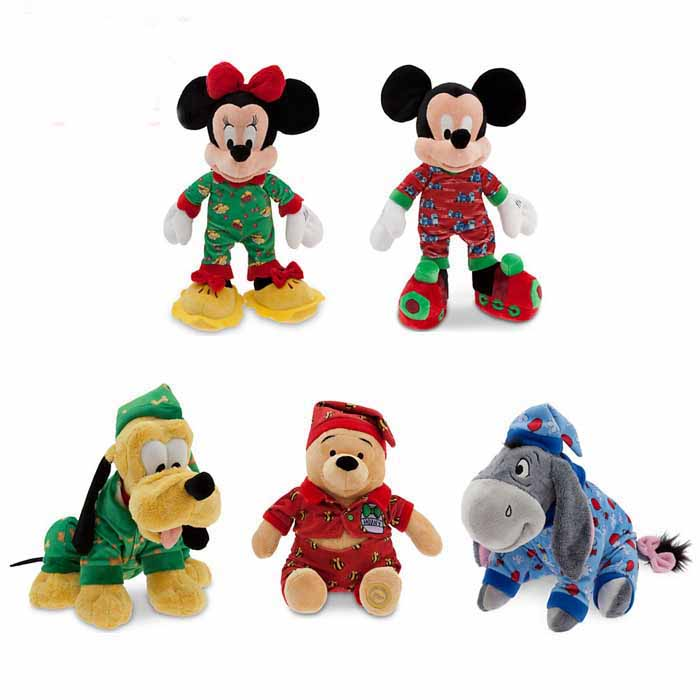Christmas Toys Disney : Disney mickey mouse in sleepwear for christmas plush toys