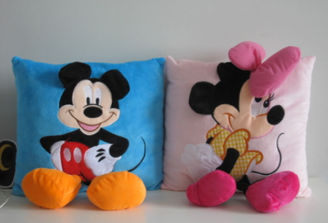 Disney Mickey Mouse Plush Pillow and Cushion